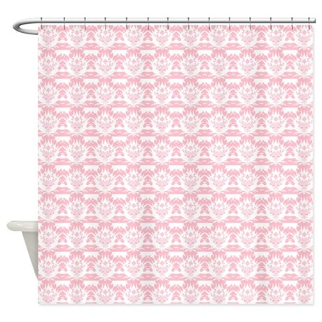 pink damask shower curtain by showercurtainsworld