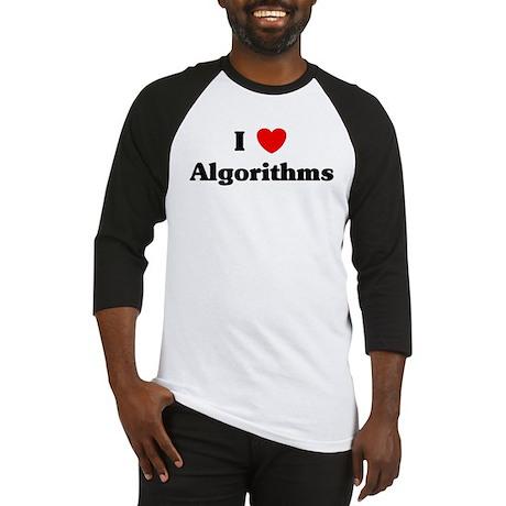 I Love Algorithms Baseball Jersey