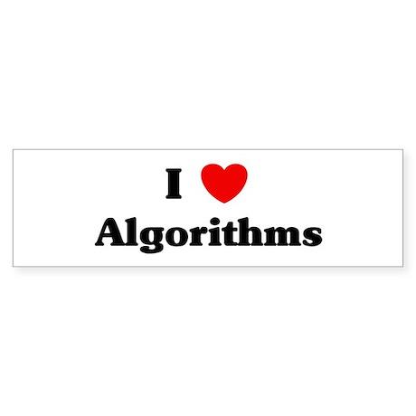 I Love Algorithms Bumper Sticker