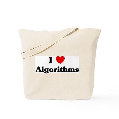 I Love Algorithms Tote Bag