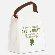 catvomit2.png Canvas Lunch Bag