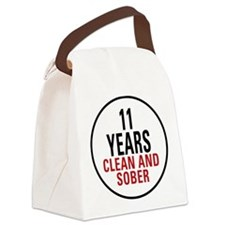 11 Years Clean and Sober Canvas Lunch Bag