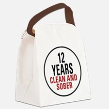 12 Years Clean and Sober Canvas Lunch Bag