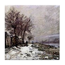 Monet - Lavacourt in Winter Tile Coaster