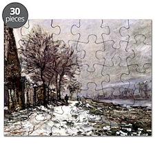 Monet - Lavacourt in Winter Puzzle