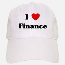 I Love Finance Baseball Baseball Cap