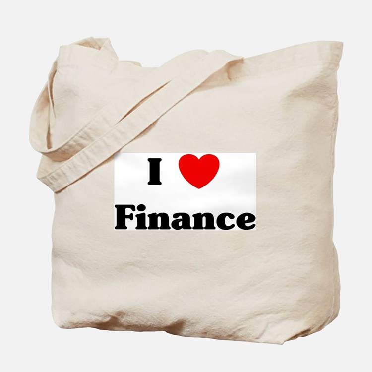 I Love Finance Tote Bag
