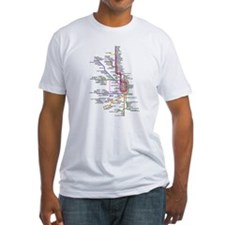 Chicago CTA System Map Shirt