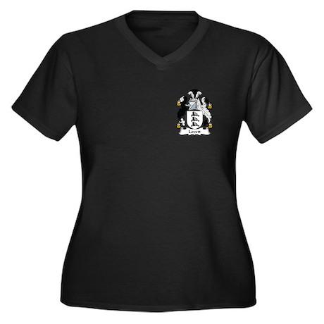 Lovett Women's Plus Size V-Neck Dark T-Shirt