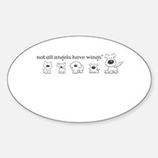 Not all angels have wings - plural Decal