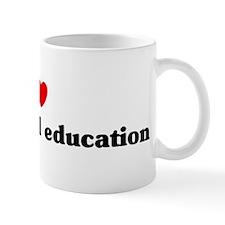 I Love Agricultural education Mug