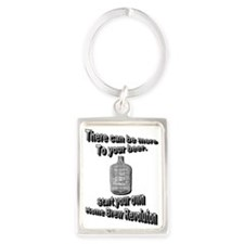 There is more to beer. Portrait Keychain