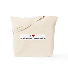 I Love Agricultural economics Tote Bag