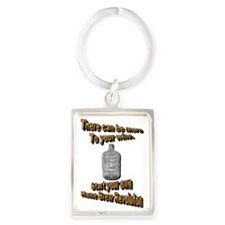 There is more to Wine. Portrait Keychain