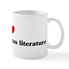 I Love African American liter Mug