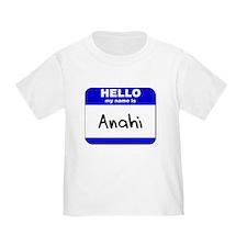 hello my name is anahi T