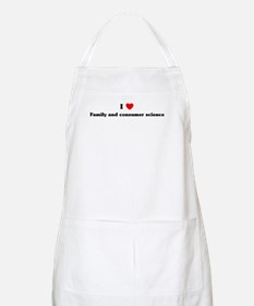 I Love Family and consumer sc BBQ Apron