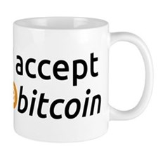 I Accept Bitcoin Mugs