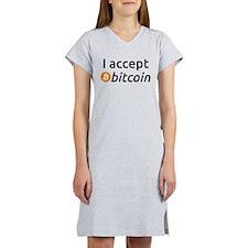I Accept Bitcoin Women's Nightshirt