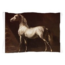 White Arabian Horse Pillow Case