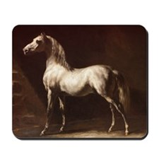 White Arabian Horse Mousepad