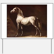 White Arabian Horse Yard Sign