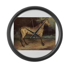 Horse in the Storm Large Wall Clock