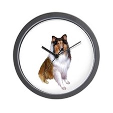 Collie (Sable-White #2) Wall Clock