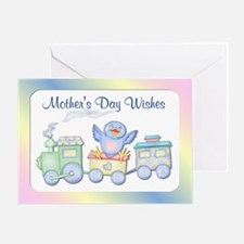 Bluebird Train 1st Mother's Day Greeting Card