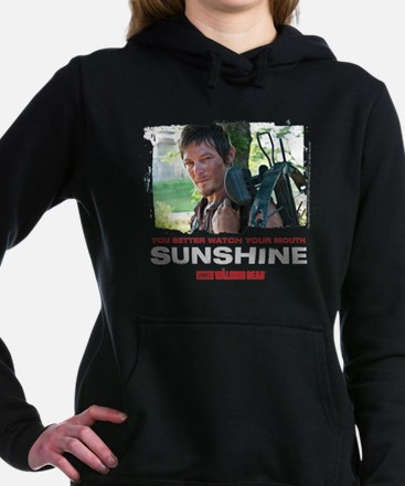 Daryl Dixon Watch Your Mouth Hooded Sweatshirt