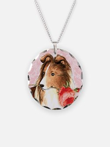 Sheltie Rose Necklace