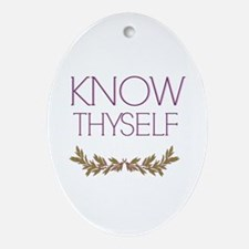 Know thyself Ornament (Oval)