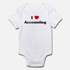 I Love Accounting Infant Bodysuit