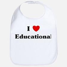 I Love Educational Bib
