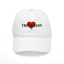I Love Triathlon Baseball Cap