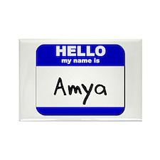 hello my name is amya Rectangle Magnet