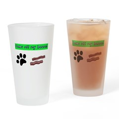Paws off my bacon! Drinking Glass