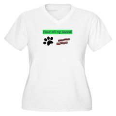 Paws off my bacon! Plus Size T-Shirt