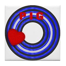 LEATHER PRIDE/PIG/ROUND Tile Coaster