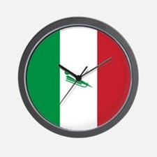 Team Luge Italy Wall Clock