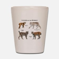 Lynxes of the World Shot Glass