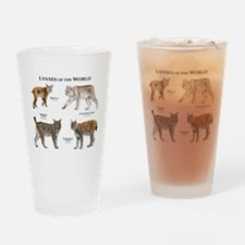 Lynxes of the World Drinking Glass