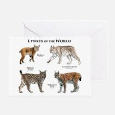 Lynxes of the World Greeting Card