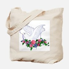 Dove & Flowers Tote Bag