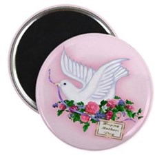 Dove & Flowers Magnet
