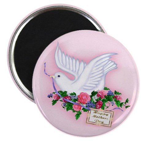 Dove & Flowers Magnet