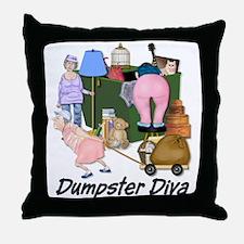 Dumpster Diva Throw Pillow
