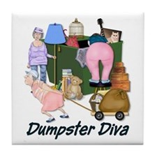Dumpster Diva Tile Coaster