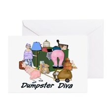 Dumpster Diva Greeting Cards (Pk of 10)