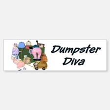 Dumpster Diva Bumper Bumper Bumper Sticker